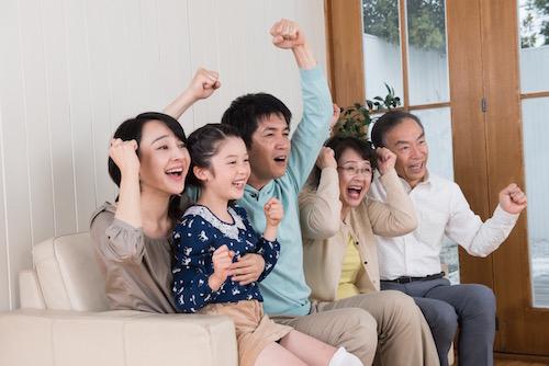 家族で興奮